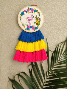 Flamingo & Pineapple Dreamcatcher