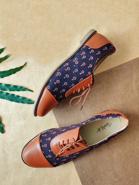 Oxfords - Purple Azrak Print