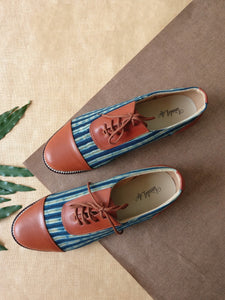 Oxfords - Blue Line Print
