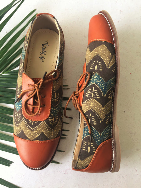 Oxfords - Zigzag Azrak Print - The Tassle Life
