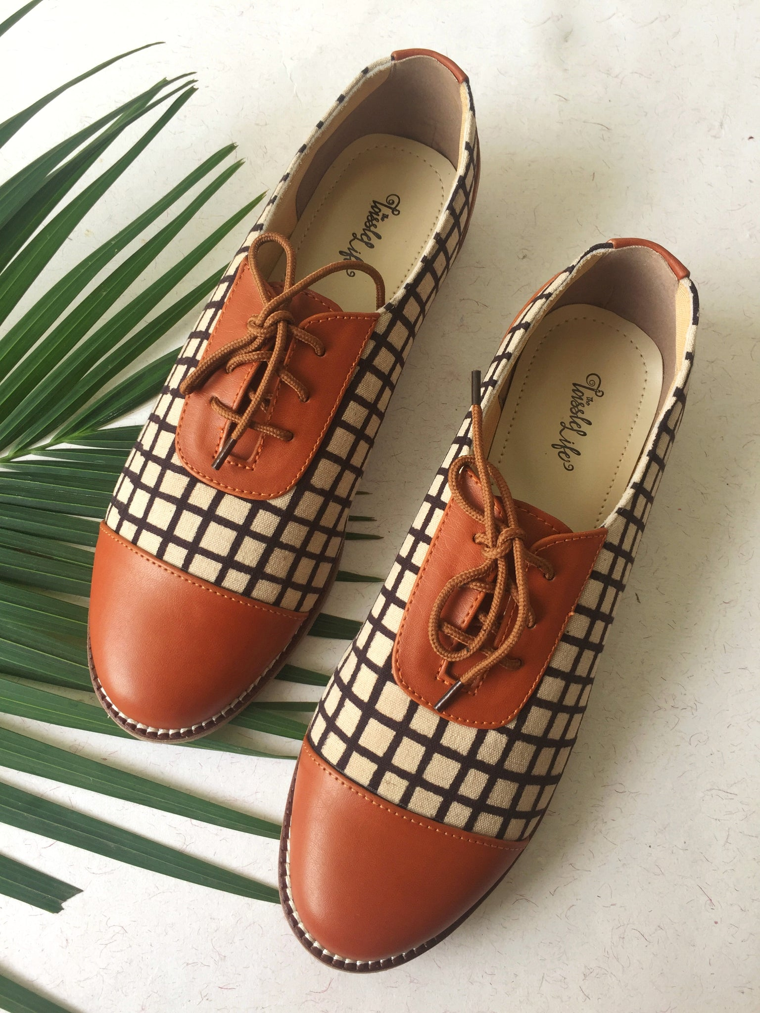 Oxfords - Checkered Print - The Tassle Life