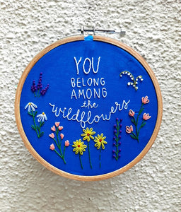 Wildflower Embroidered Hoop