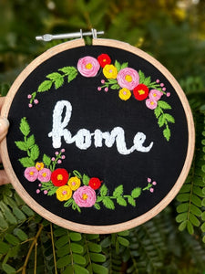Home Embroidered Hoop