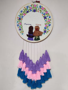 2 Girls Embroidered Hoop with Tassels