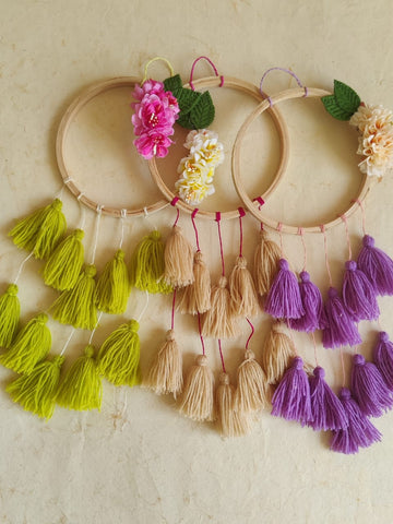 Floral Dreamcatcher (Set of 3)