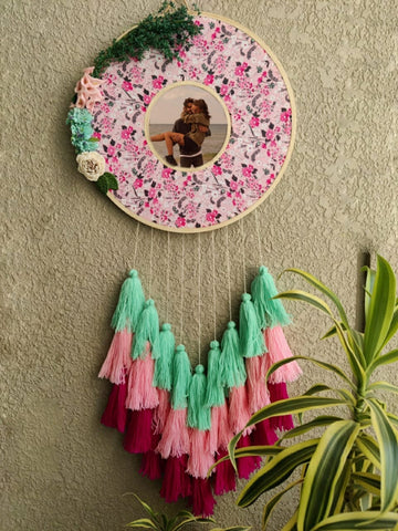 Floral Photo Frame Double Hoop