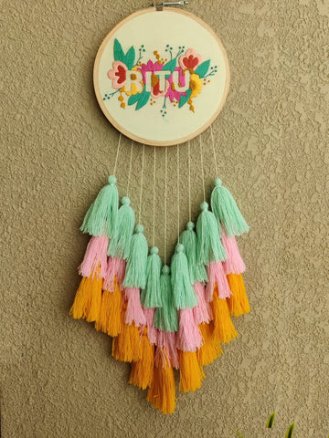 Customizable Embroidered Dreamcatcher