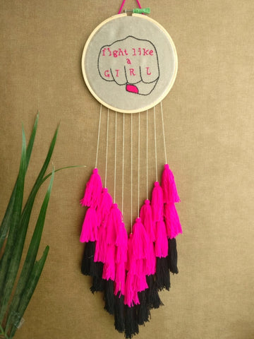 Fight Like a Girl Dreamcatcher - The Tassle Life