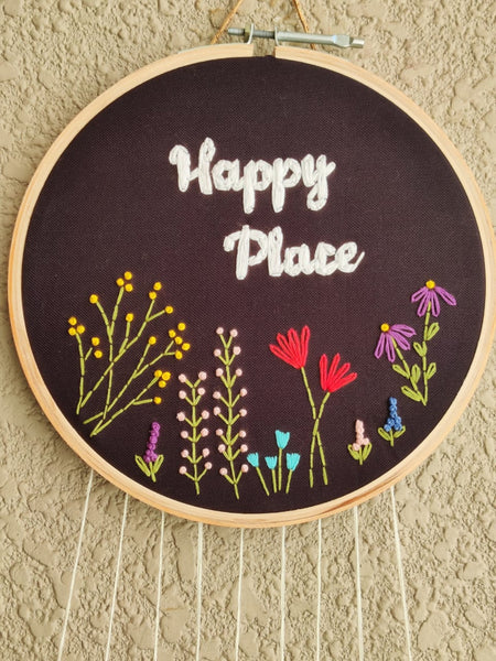 'Happy Place' Floral Dreamcatcher