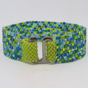 Peyote Stitch Bracelet, Laguna Mix