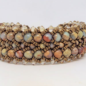 Earth and Sky Woven Bracelet