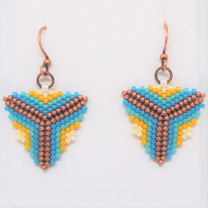 Triangle Earrings - Beachy