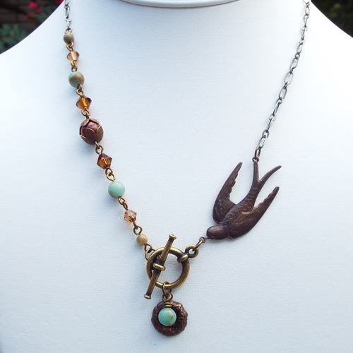 Earth and Sky Bird Necklace
