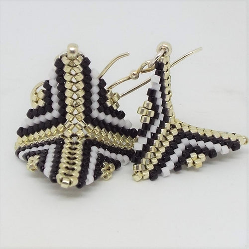 Small Origami Earrings - Art Deco