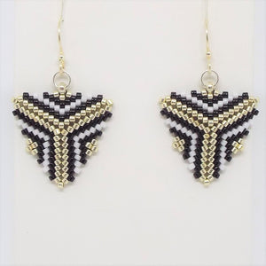 Triangle Earrings - Art Deco