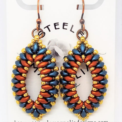 Gypsy SuperDuo Earrings - Canyon