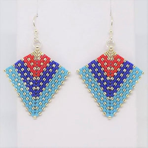 Deco Diamond Earrings - Americana