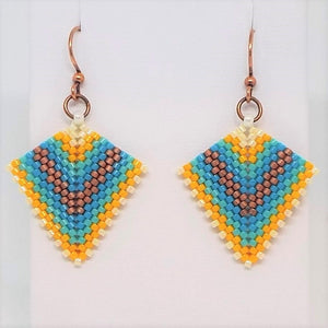 Deco Diamond Earrings - Beachy
