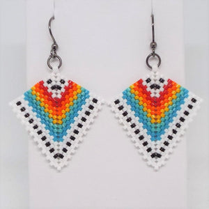 Deco Diamond Earrings - Tribal