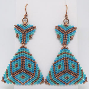Double Triangle Earrings - Laguna