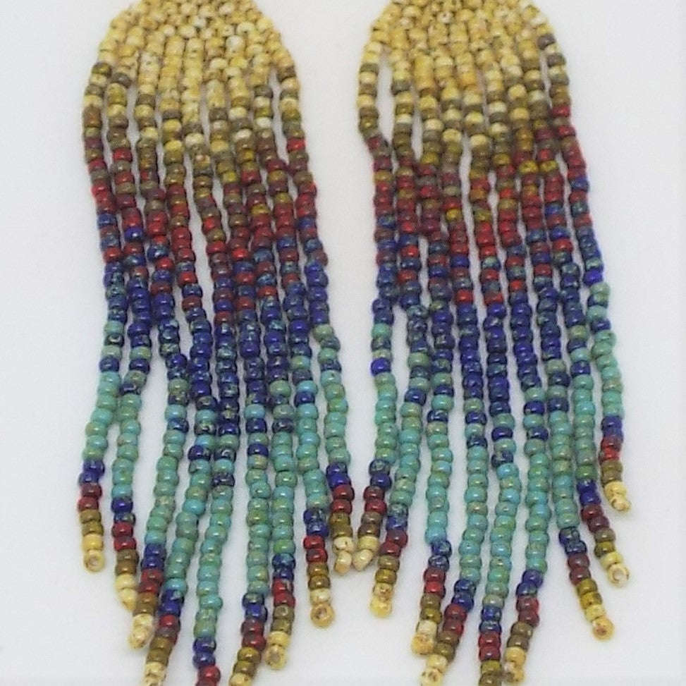 Boho Chic Fringe Earrings - Earthen