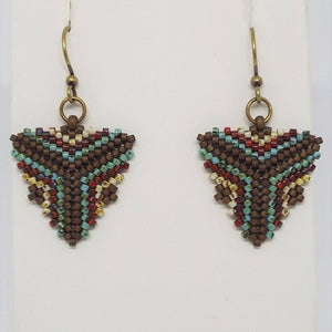 Triangle Earrings - Earthen