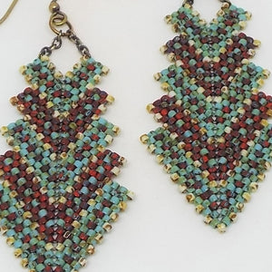 Double Deco Earrings - Earthen