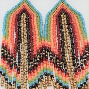 Fancy Fringe Earrings - Fiesta