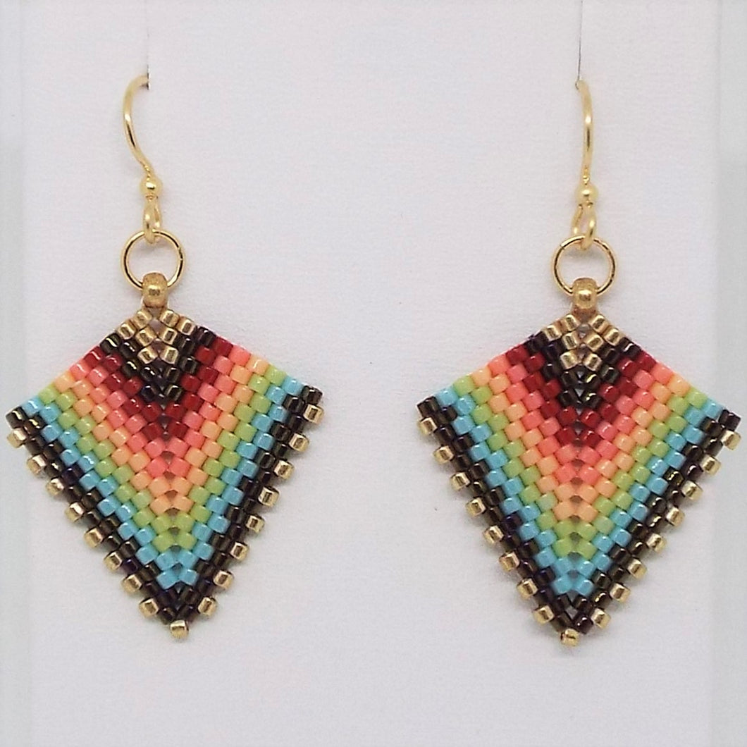 Deco Diamond Earrings - Fiesta #1
