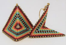 Medium Origami Earrings - Fiesta