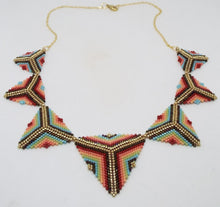 Triangle Statement Necklace - Fiesta