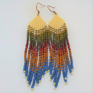Boho Chic Fringe Earrings - Autumn Harvest