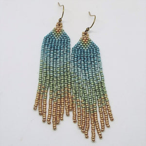 Metallic Mini Fringe Earrings - Mermaid