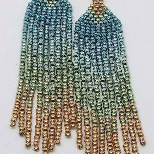Metallic Mini Fringe Earrings - Summer