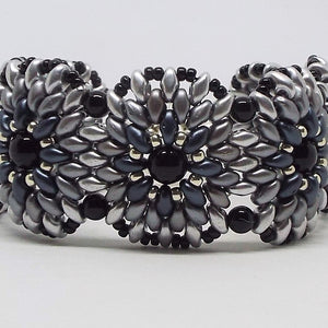 Grayscale Single Concho Bracelet