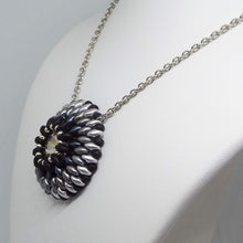 Grayscale Concho Pendant Necklace