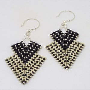 Double Deco Diamond Earrings - Hollywood