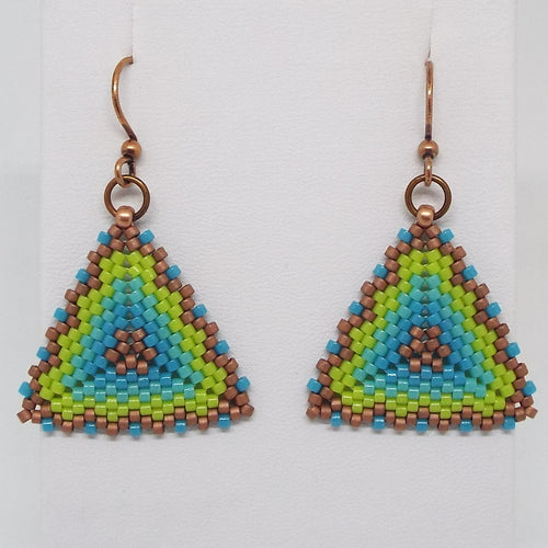 Triangle Earrings - Laguna