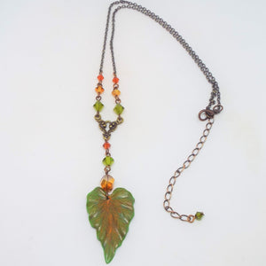 Autumn Leaf Y Necklace