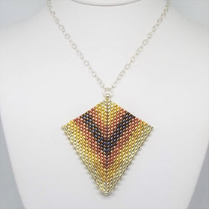 Deco Diamond Pendant Necklace - Heavy Metal