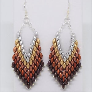 Trapeze Earrings - Heavy Metal