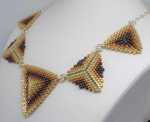 Triangle Statement Necklace - Heavy Metal