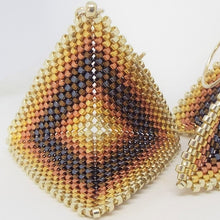 Medium Origami Earrings - Heavy Metal