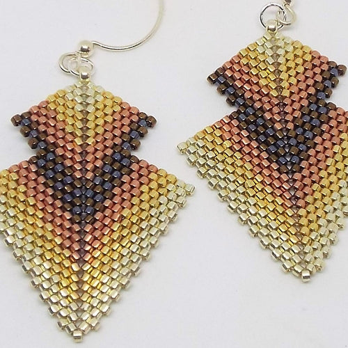 Double Deco Diamond Earrings - Heavy Metal