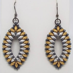 Heavy Metal Oval Earrings