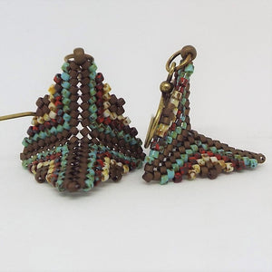 Mini Origami Earrings - Earthen
