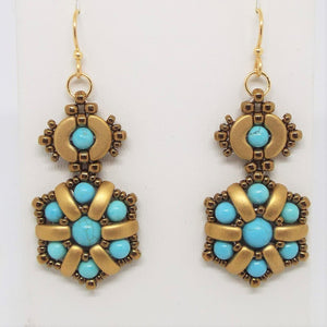 Nefertiti Flower Earrings