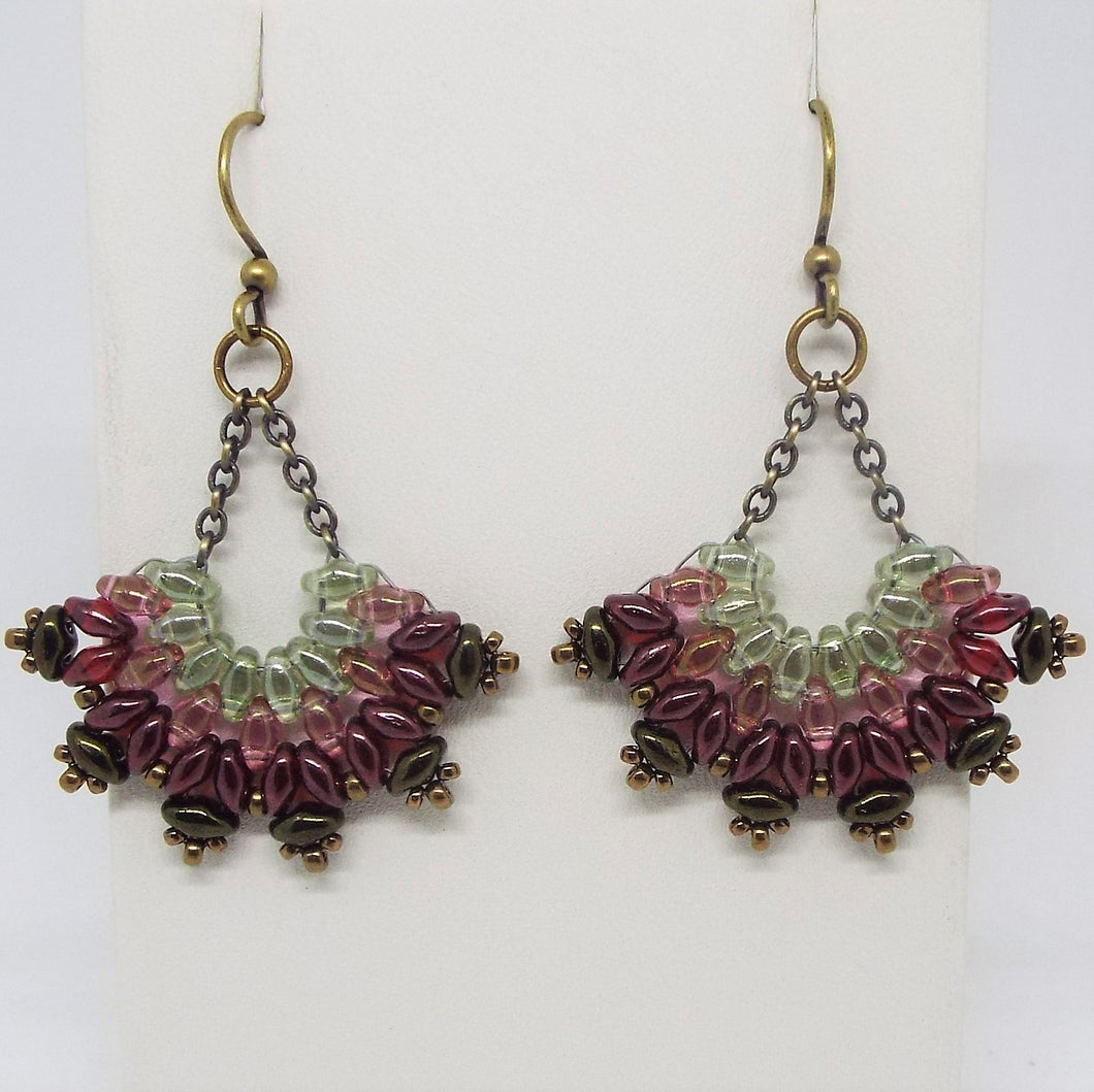 SuperFan SuperDuo Earrings - Prairie