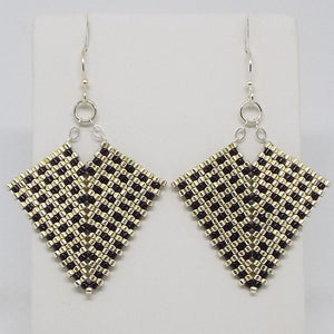 Hollywood Earrings - Silver & Black, Medium