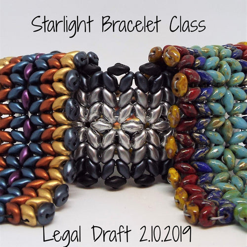 SOLD OUT! Starlight Woven Bracelet Class @ Legal Draft on 2.10.2019